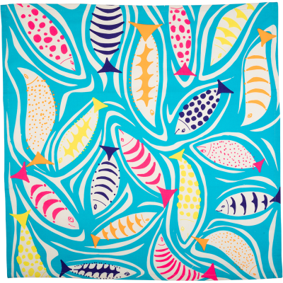 A Shoal of Fish 70x70 cm Knot Wrap
