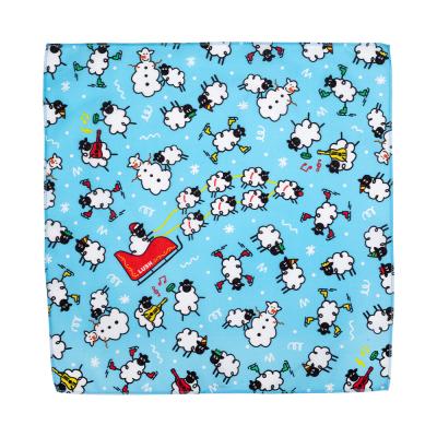 Sheep Till Christmas 50cm x 50cm Knot Wrap