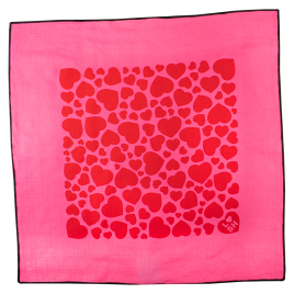 Love Hearts Pink 45x45 cm Knot Wrap