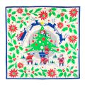 Rocking Around The Christmas Tree 70cm x 70cm Knot Wrap