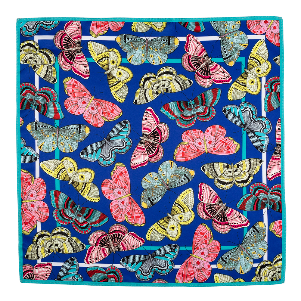 Vintage Butterflies 50x50 cm Knot Wrap